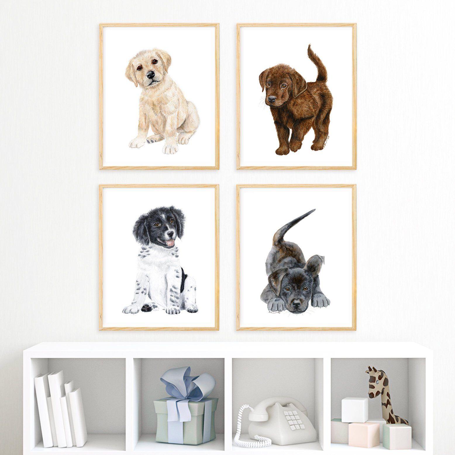 Puppy Nursery Decor Dog Art Puppies