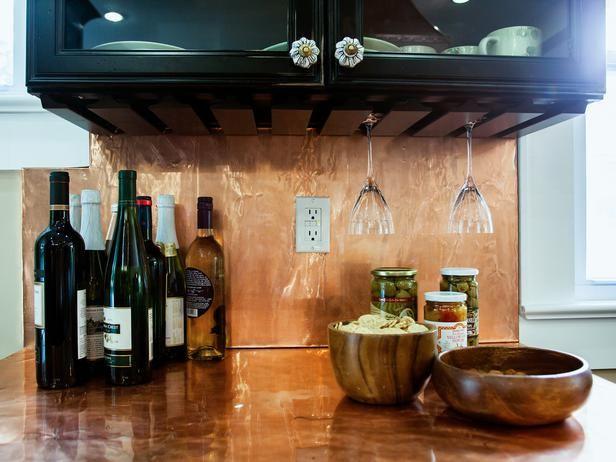 Copper Backsplash Ideas Hgtv Kitchens Painting Kitchen Countertops Copper Backsplash