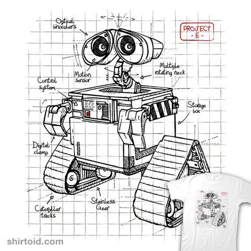 Project E Disney Drawings Sketches Wall E Eve Wall E