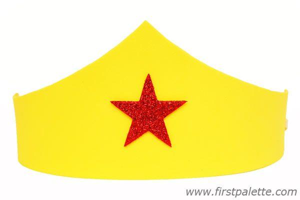 Superhero Craft Foam Tiara craft | Superhero crown ...