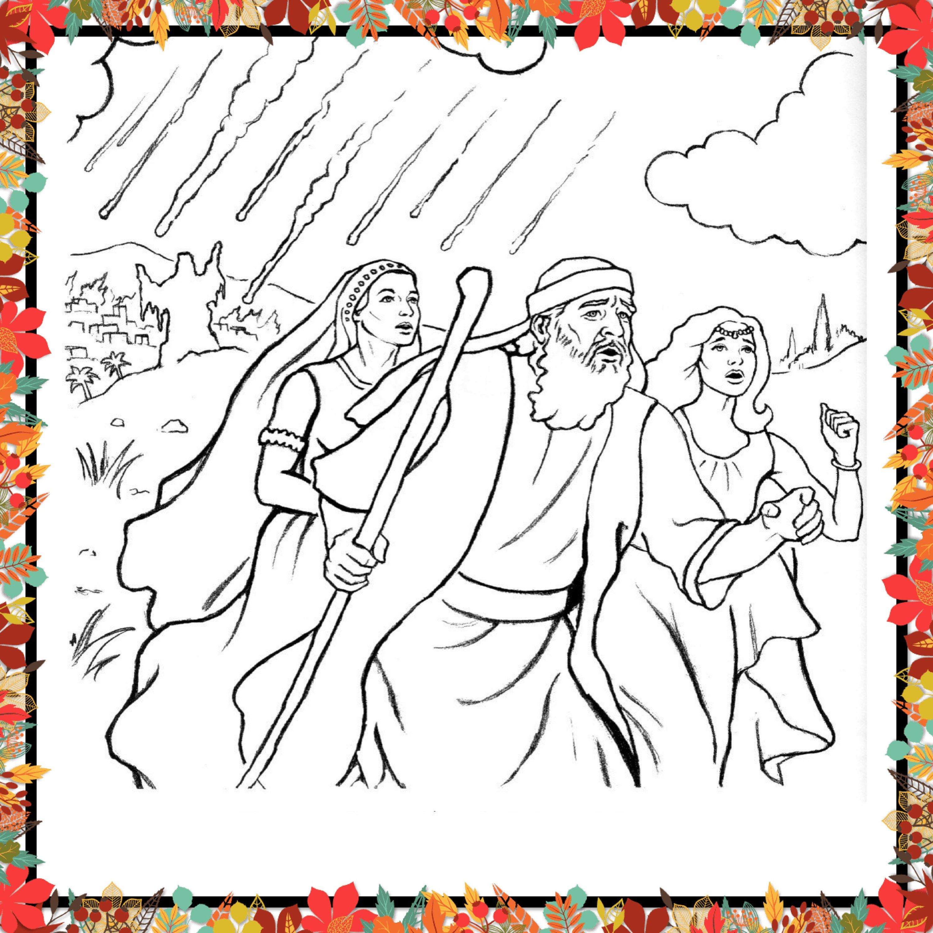 Printable Coloring Page For Kids And Adults Bible Character