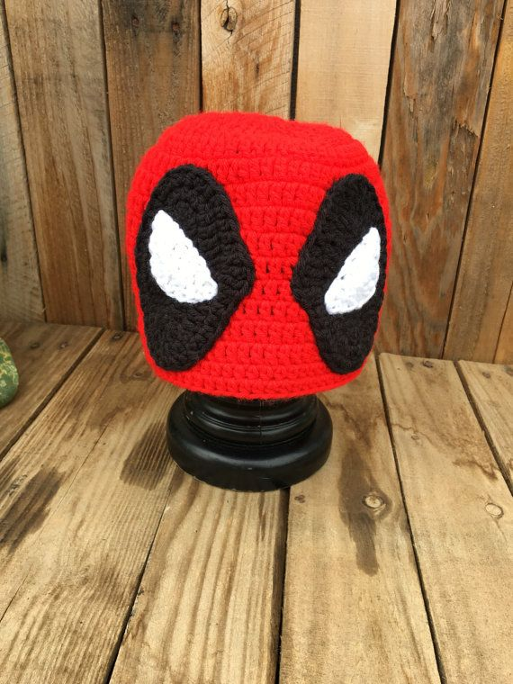 Deadpool Inspired Crochet Handmade Hat Beanie Dead Pool  987f873123e