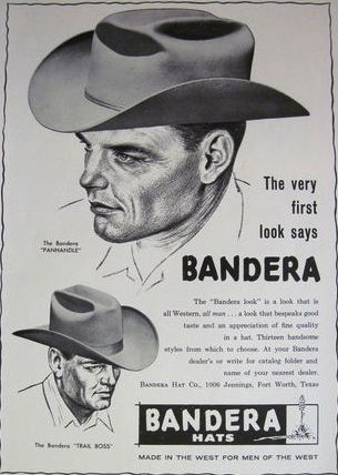 b19b32f11 Bandera cowboy hats...Ft. Worth Texas | Antique & VTG Cowboy Hats in ...