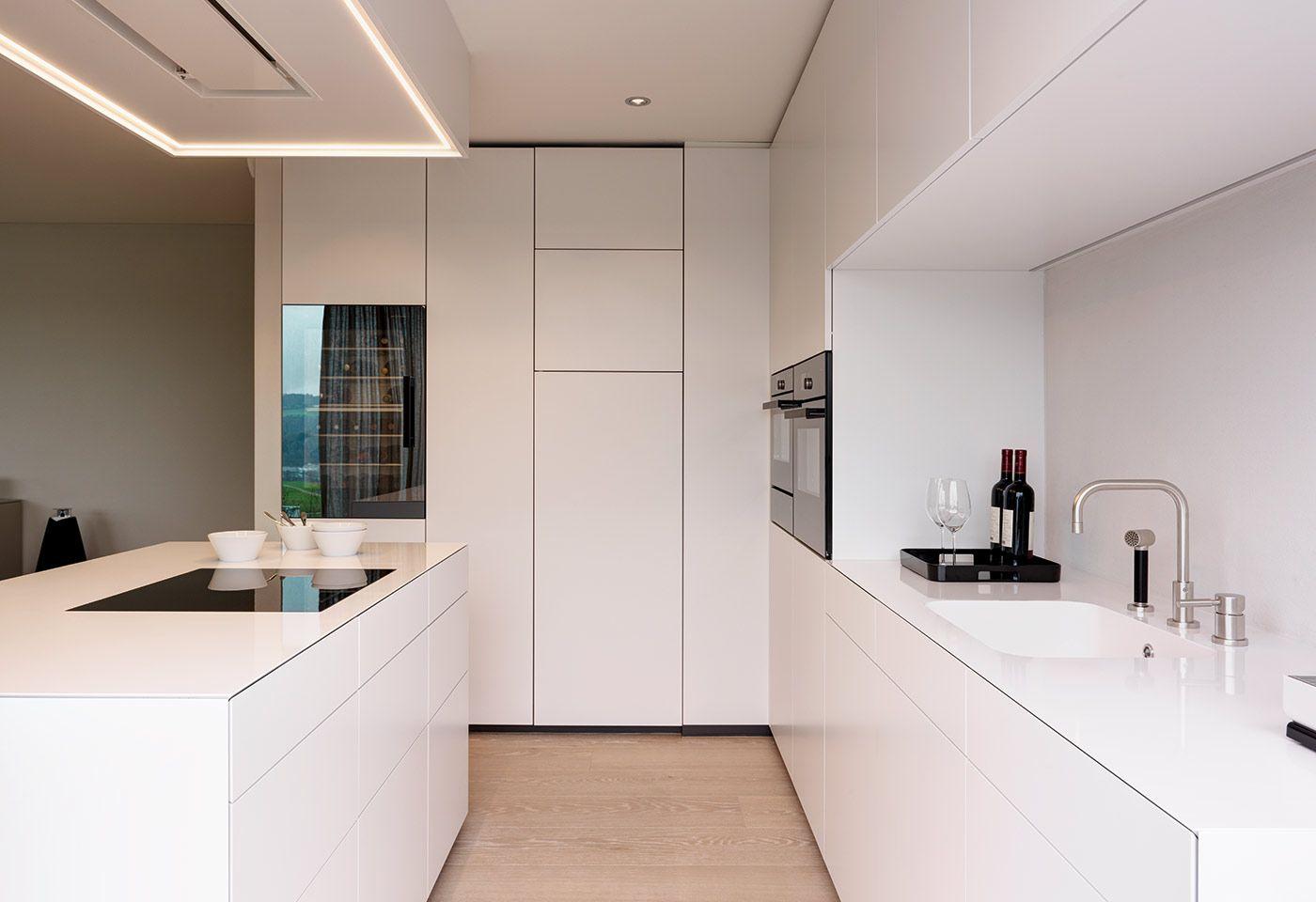Küchenideen 2018 weiß die schlichte und minimalistisch gestaltete küche in weiss im