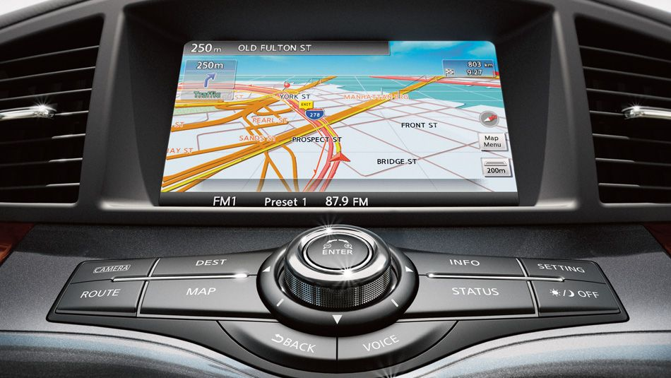 """Nissan Hard Drive Navigation System with 8.0"""" VGA touch"""
