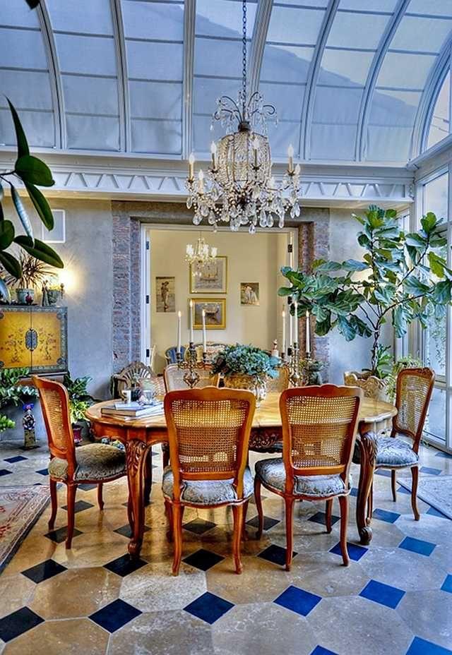 A Sunroom Transformed Into Dining Room Conservatory Dining Room