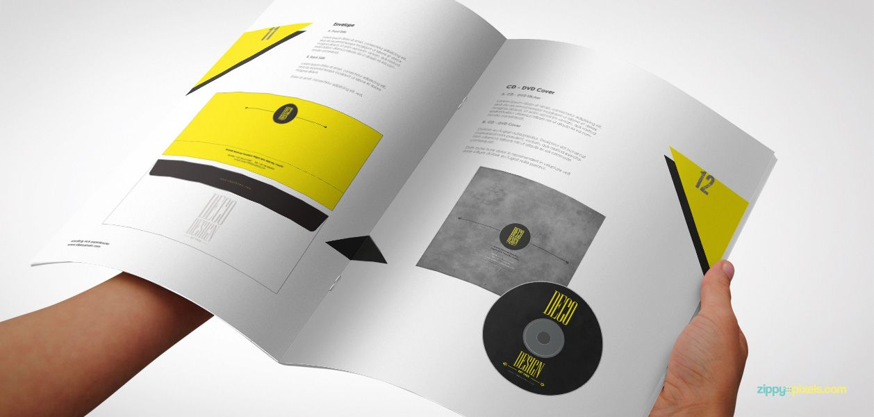 Branded Print Media - Creative Brand Identity Manual Template - it manual template