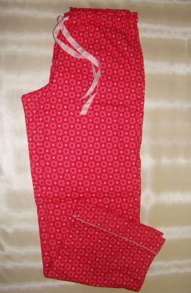 Victorias Secret The Dreamer Flannel Pajama Pants NWT  snowflakes red  #VictoriasSecret #LoungePantsSleepShorts