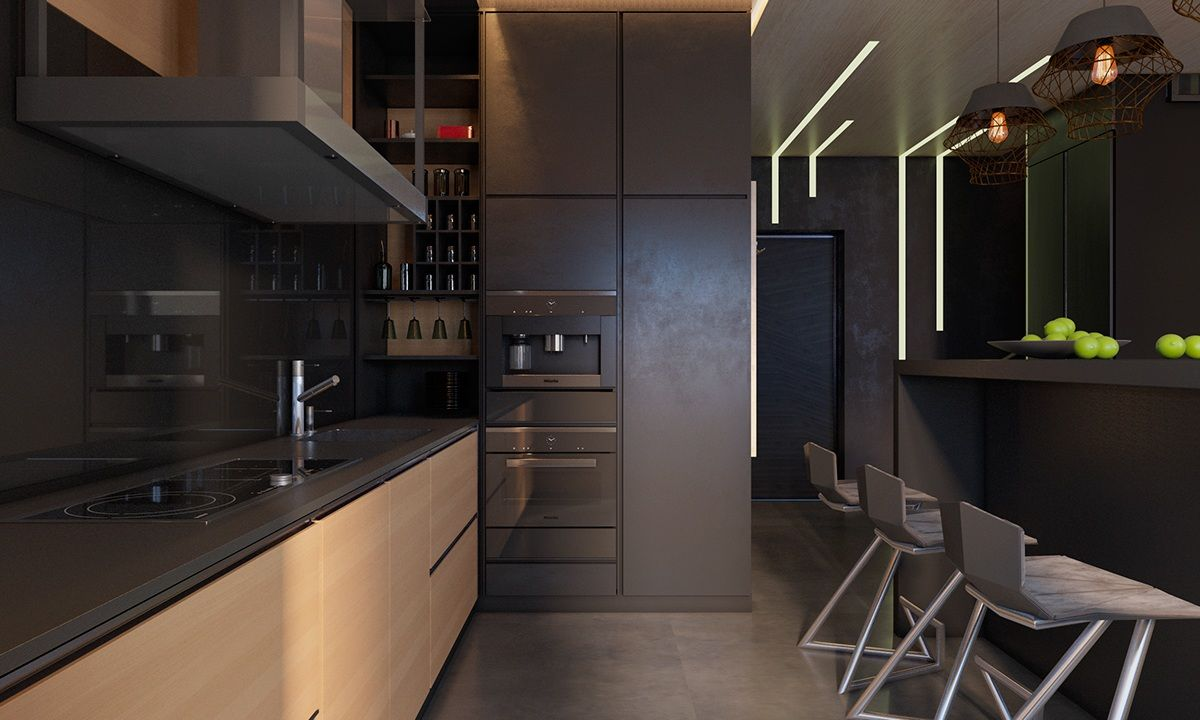 Beau 3 Living Spaces With Dark And Decadent Black Interiors