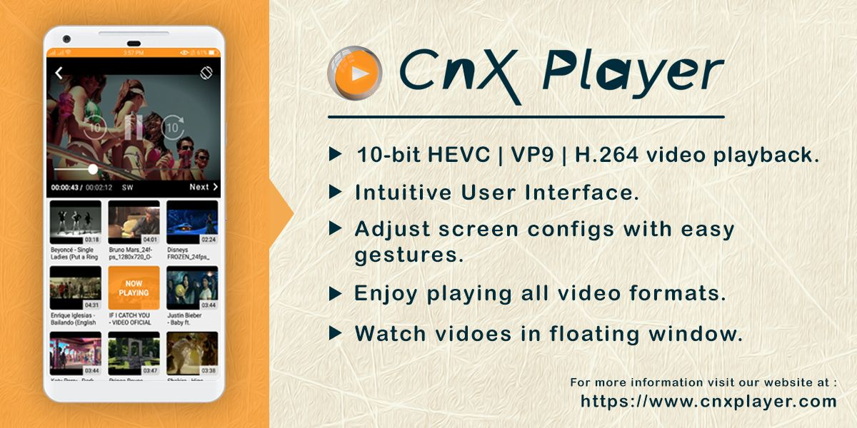Upgrade to CnX Player 2.7 on Android with major