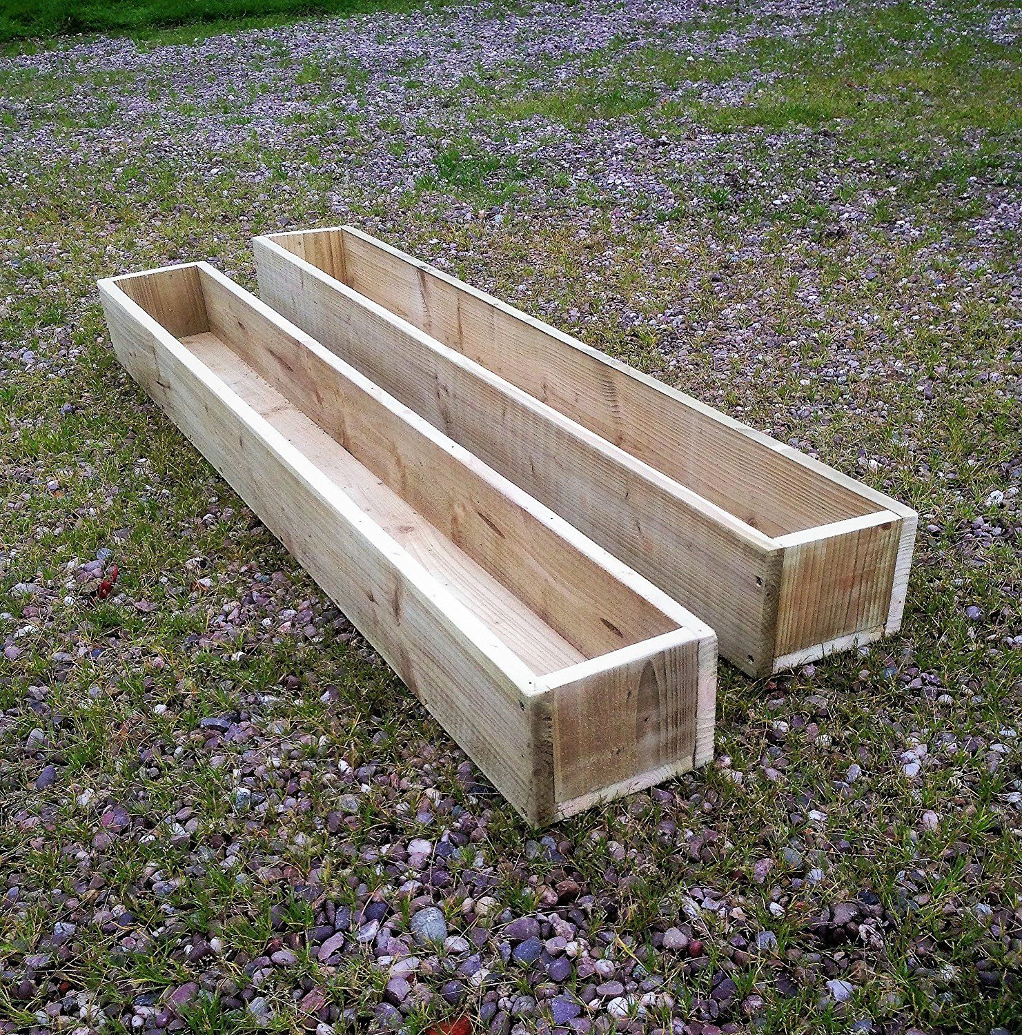 2 X Extra Large 150Cm Long 5Ft Wooden Garden Patio 400 x 300