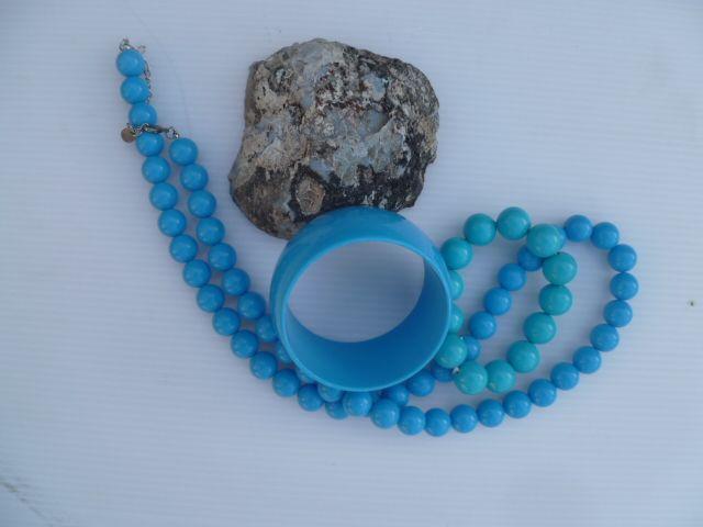 blue plastic jewelry