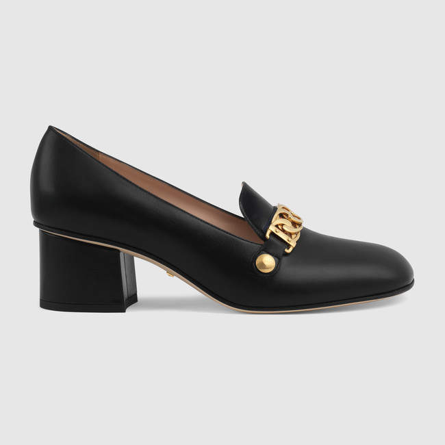 8c83d36c350 Gucci Sylvie leather mid-heel pump in 2019