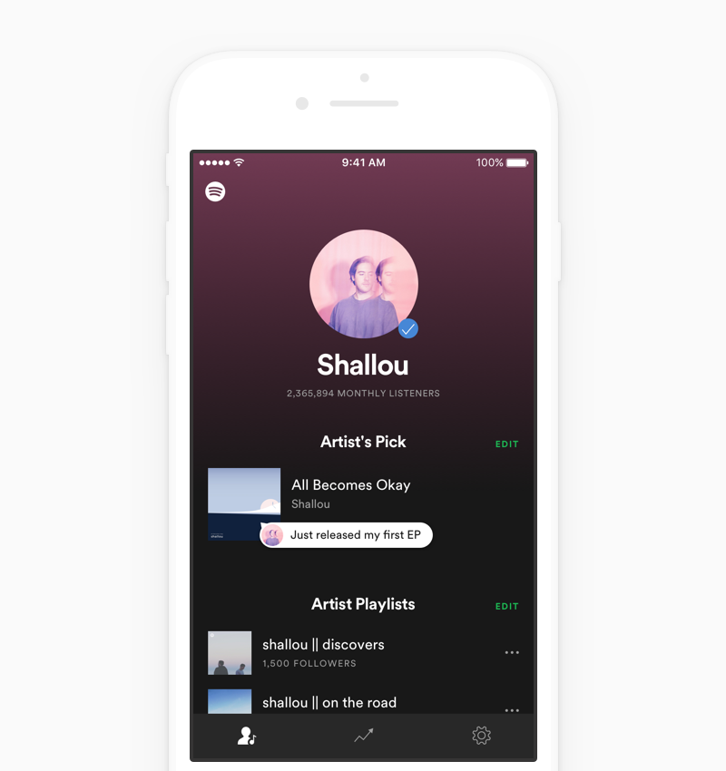 Easily Manage Your Profile Spotify Design Spotify Design Challenges