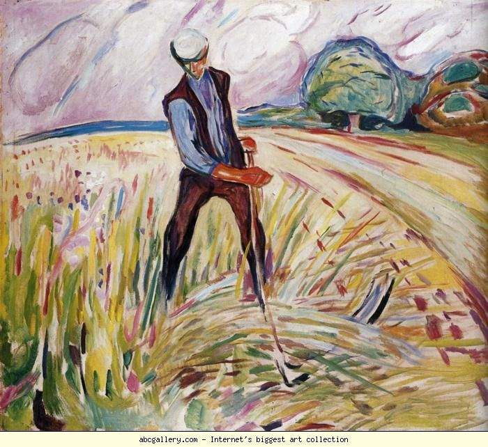 Edvard Munch. The Haymaker. 1916. Oil on canvas. 130 x 150 cm. Munch Museum, Oslo, Norway.