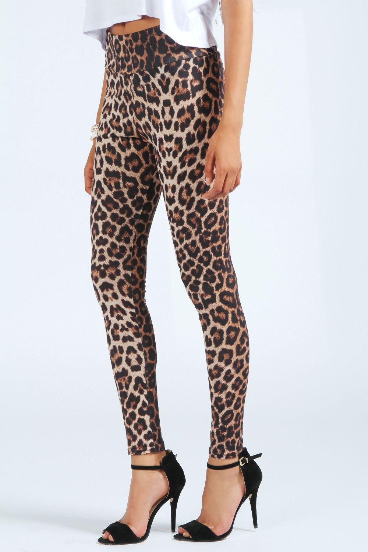Leopard Leggings at boohoo.com