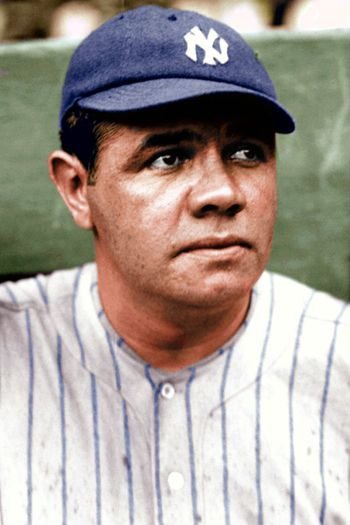 Babe ruth in color yankees 2800 softblog for Babe ruth coloring pages