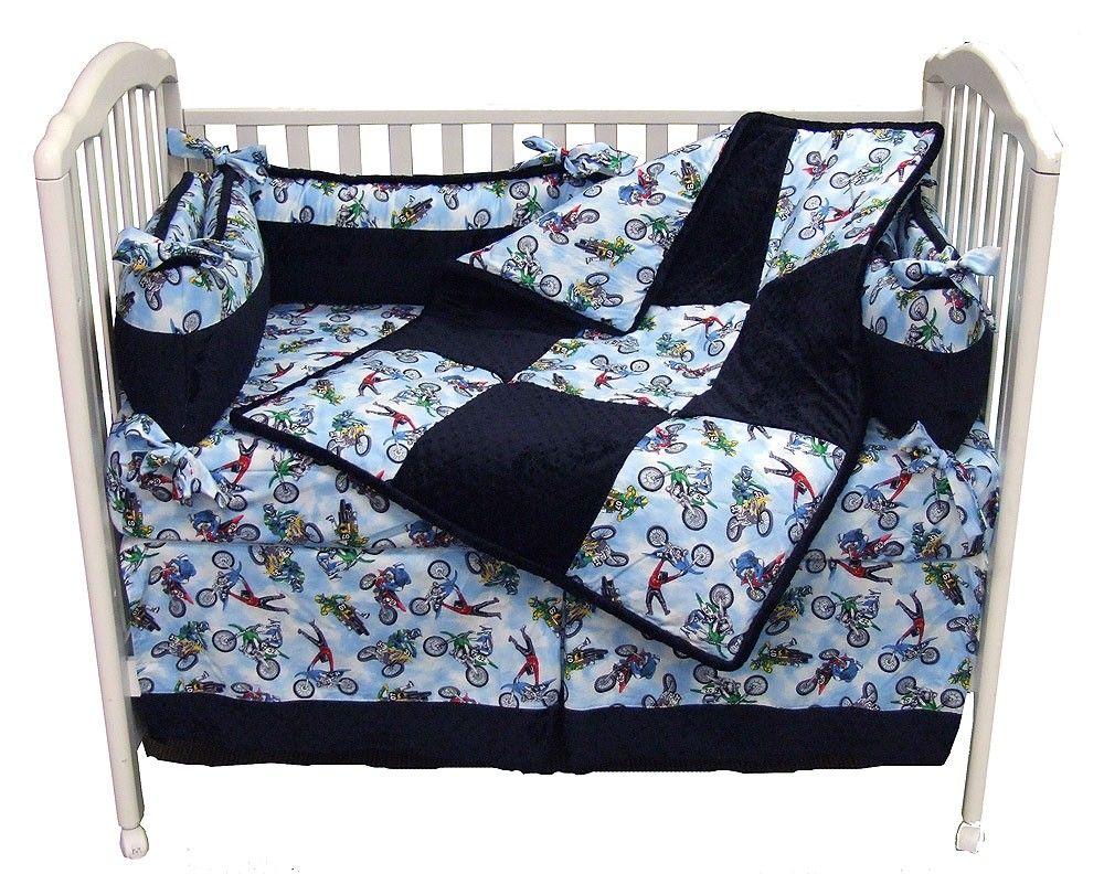 Crib Bedding Ideas Motocross Nursery Crib Bedding Boy