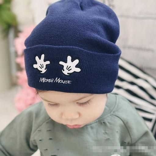 474fb392c Moeble Lovely cartoon style Boys girls beanie hat Children knit cap ...