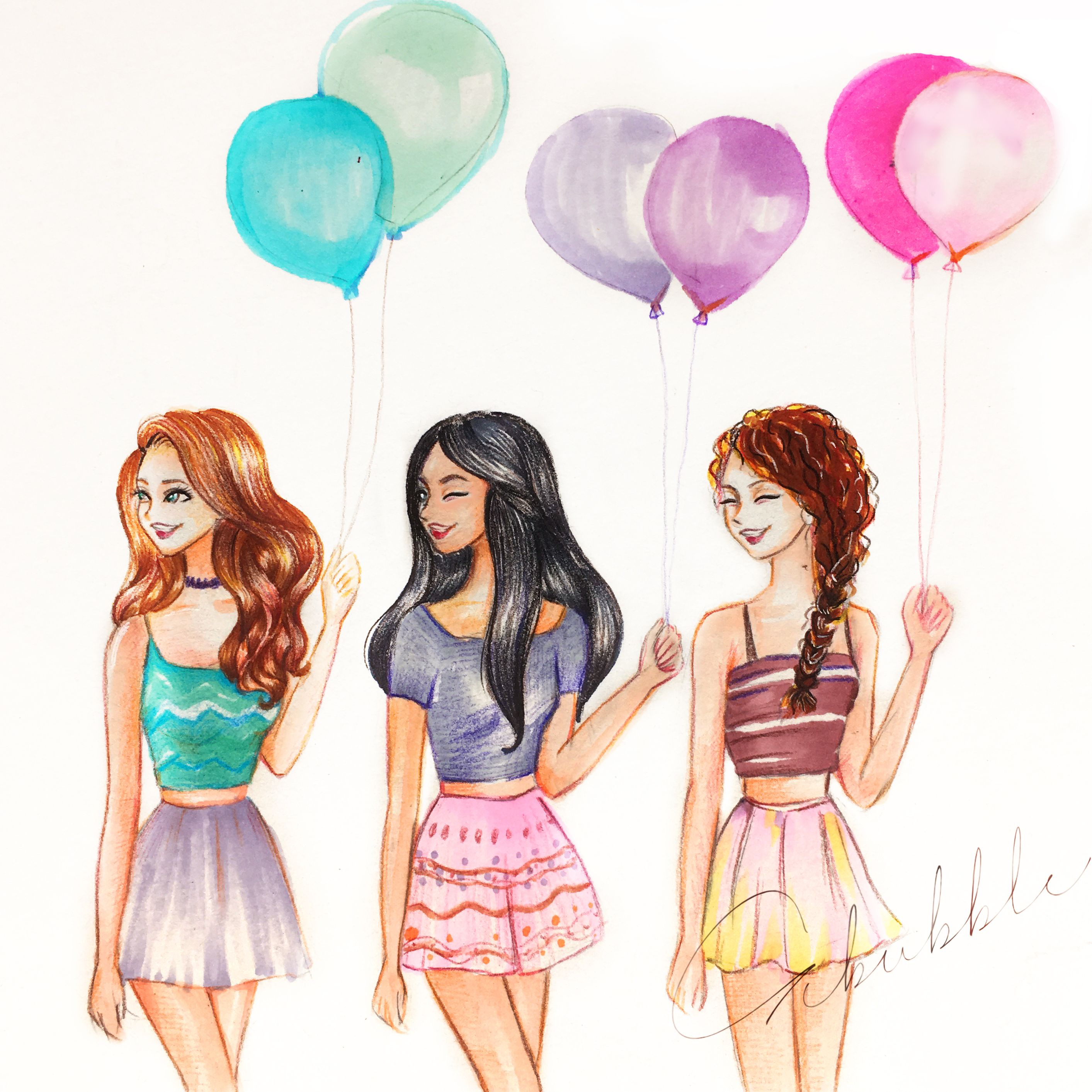 Balloon Best Friends Forever Bff Drawings Drawings Of Friends