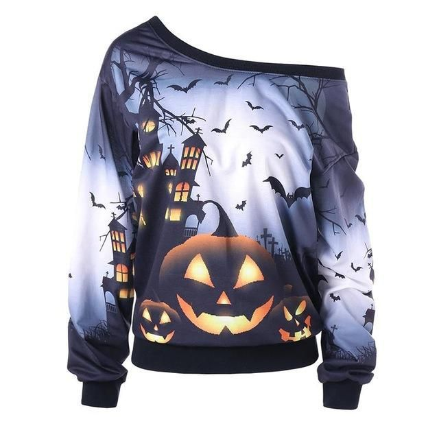 fashion 3d women hoodies halloween harajuku style female sweatshirt pumpkin brand hip hop pullovers clothes plus size ws3220e products pinterest