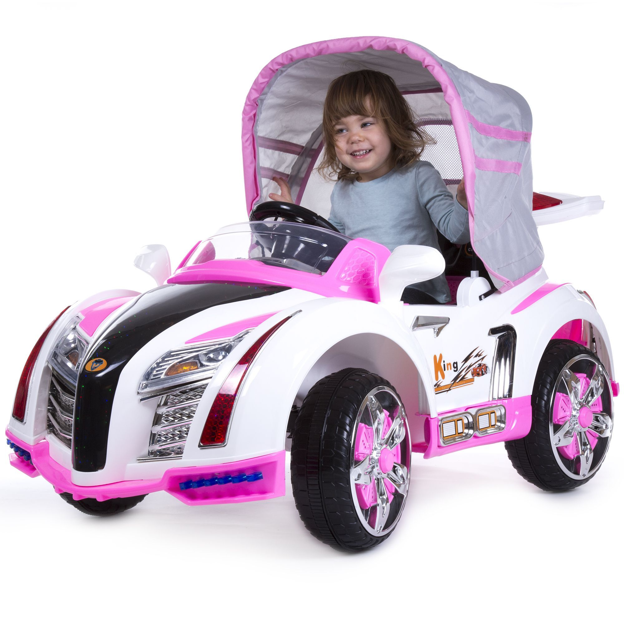 Baby toys car  Ride On Toy Car Battery Powered Sport Car With Collapsible Canopy