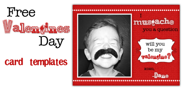 mustache and nerd valentines day cards