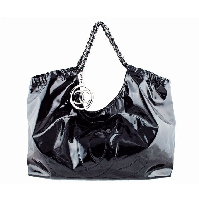 ca497ffa4fd5 From MTYCI - CHANEL Black Patent Leather Coco Cabas XL Hobo | Must ...
