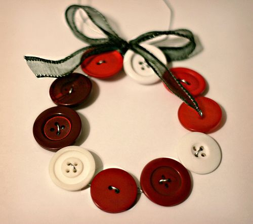 Create Homemade Christmas Ornaments Christmas buttons, Garlands