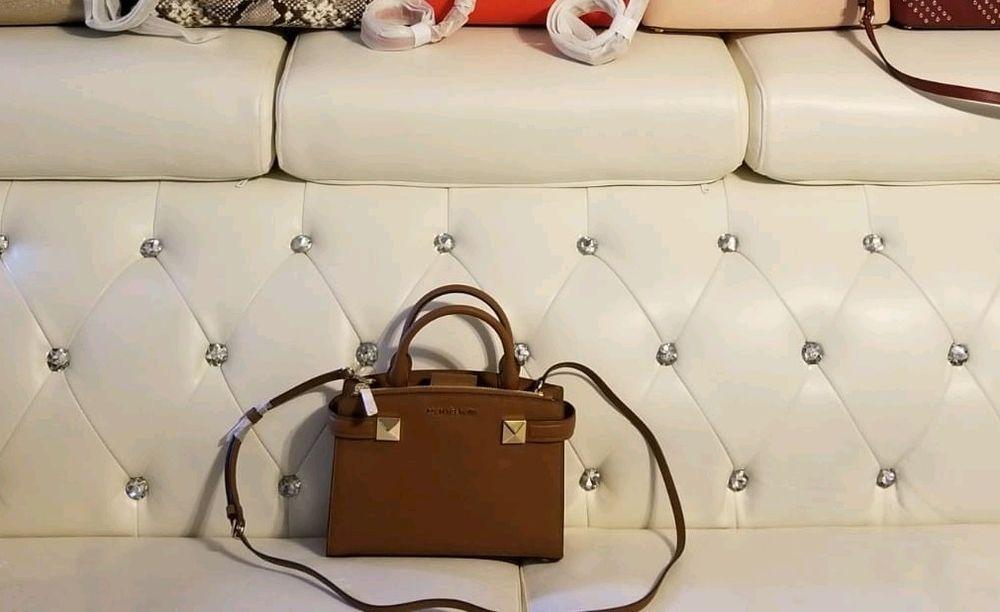 0b9e01f3fb19b NWT Michael Kors KARLA Small East West Leather Satchel Crossbody Bag in  Luggage  fashion  clothing  shoes  accessories  womensbagshandbags