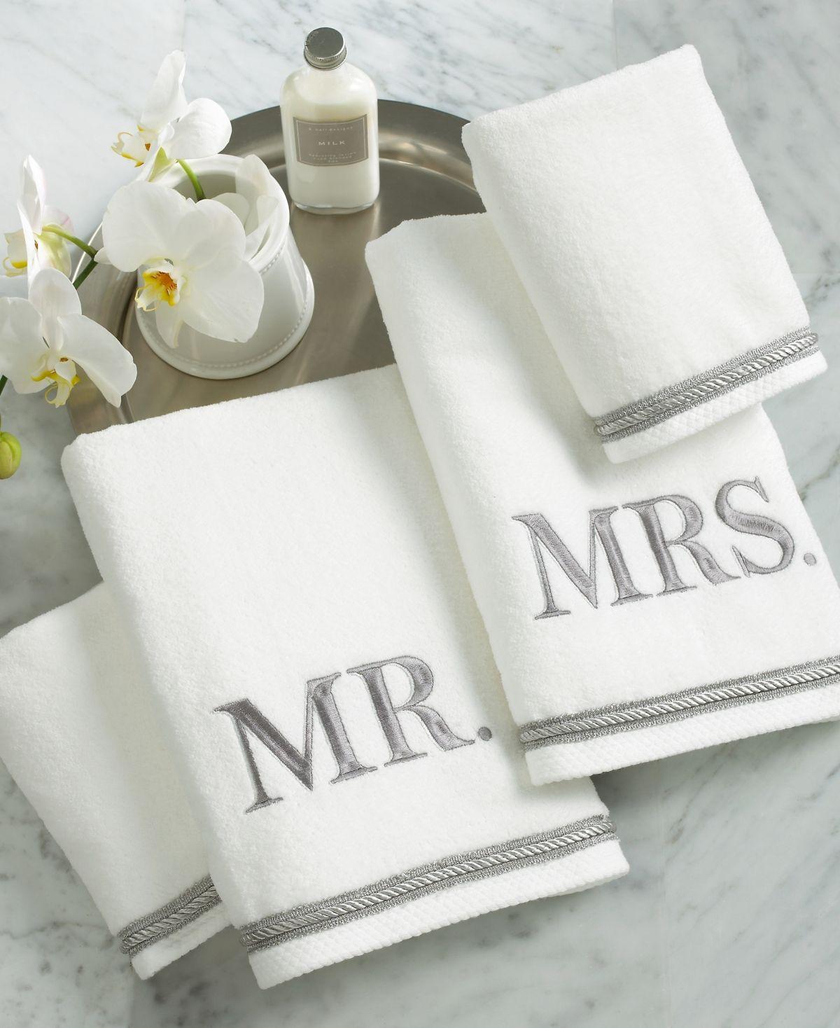 Avanti Bath Towels Mr Mrs 4 Piece Towel Set White Bath Towels