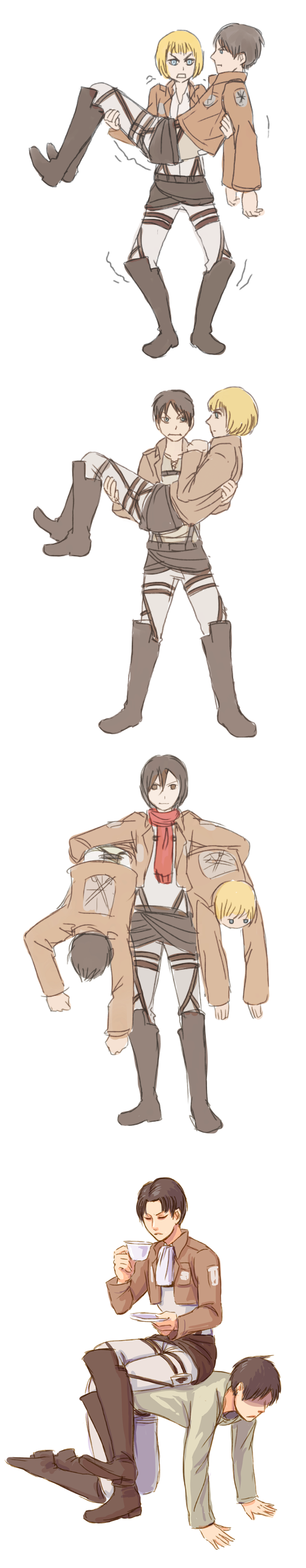 Attack on Titan ~ Strength training by oranges-lemons  Armin's like