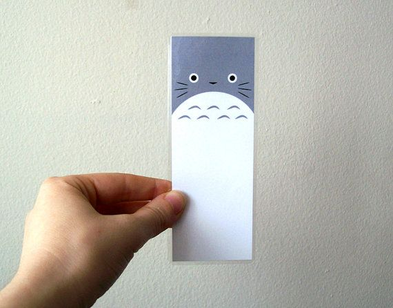 Totoro laminado Anime Fan Art Bookmark por sacari en Etsy