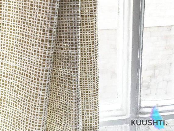 Mustard Yellow Curtains Rod Pocket Lined Designer