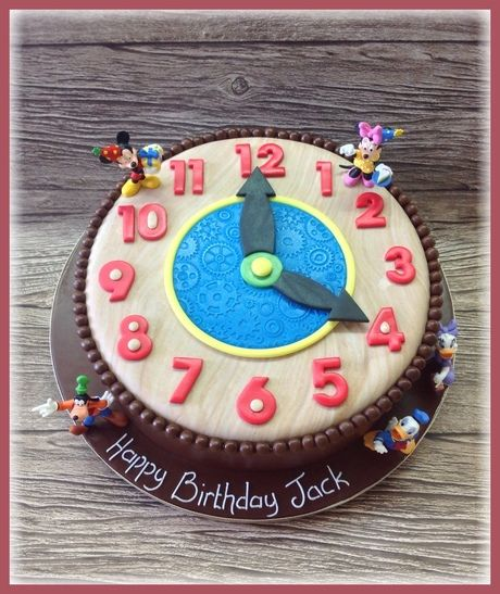Remarkable Mickeys Clock Cake Birthday Cakes The Cake Store Cake Funny Birthday Cards Online Fluifree Goldxyz