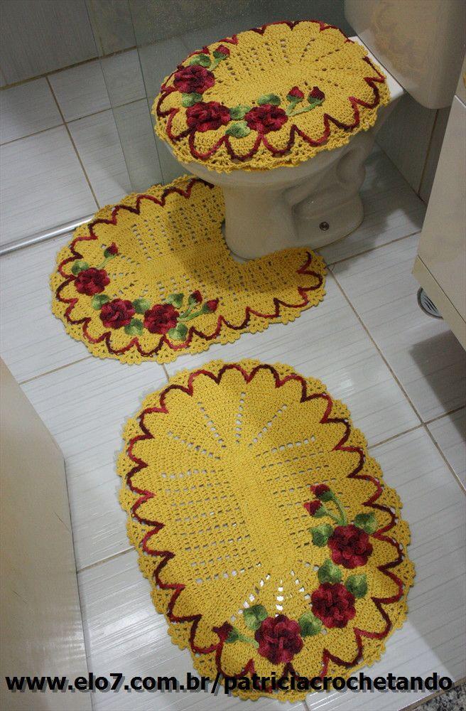 Jogo de banheiro crochet sandry pinterest - Agarraderas para bano ...