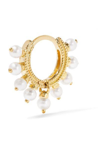 Maria Tash 14-karat Gold Pearl Earring InfGCVMn