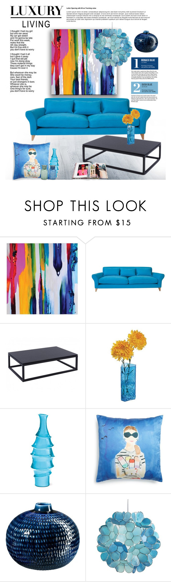 """Color your Life!"" by cruzeirodotejo ❤ liked on Polyvore featuring interior, interiors, interior design, home, home decor, interior decorating, Dartington Crystal, Kate Spade, Garance Doré and CB2"