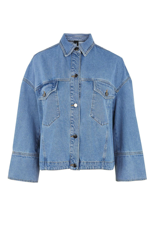 Deep Cuff Denim Jacket By Boutique Boutique Clothing Topshop Denim Jacket Denim Inspiration Cuffed Denim