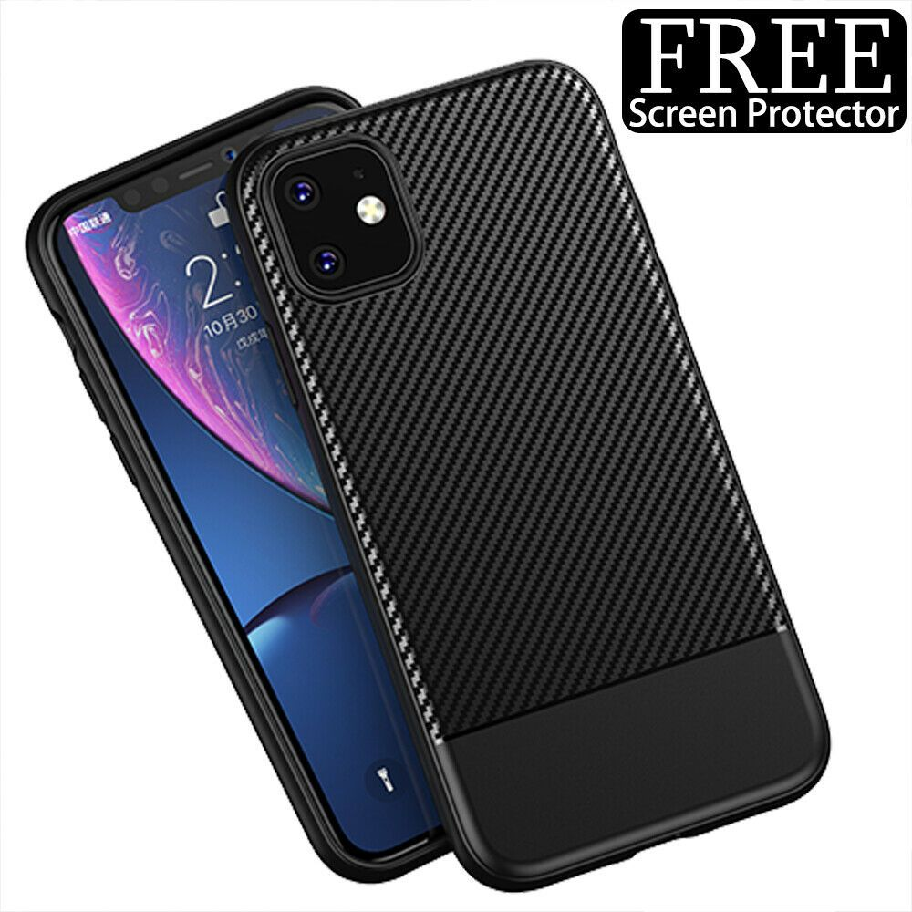 For iphone 11 11 pro max shockproof luxury carbon fiber