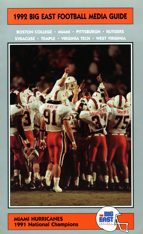 1992 BIG EAST Football Media Guide Cover bemediaday