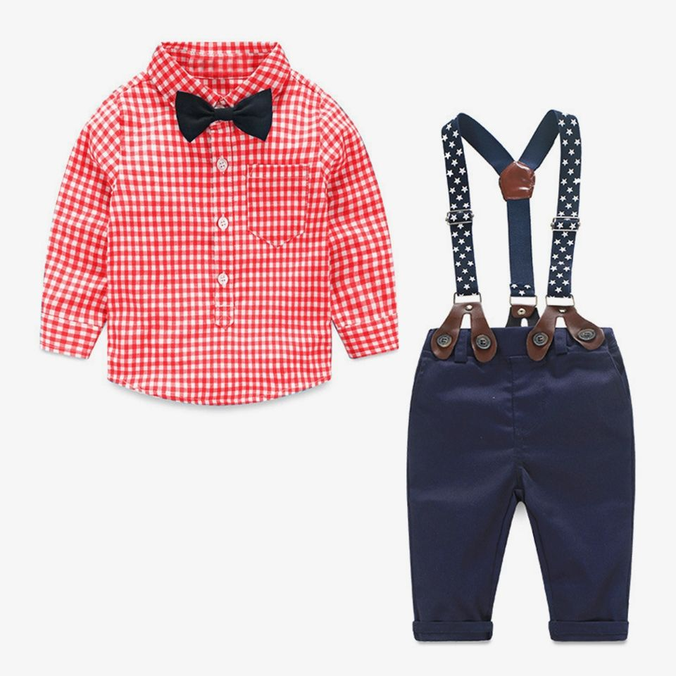 Confident 2019 New Spot Childrens Bow Tie Cotton Cotton Small Plaid Children Show Photo Shirt With Baby Bow Tie Flower Boy's Accessories