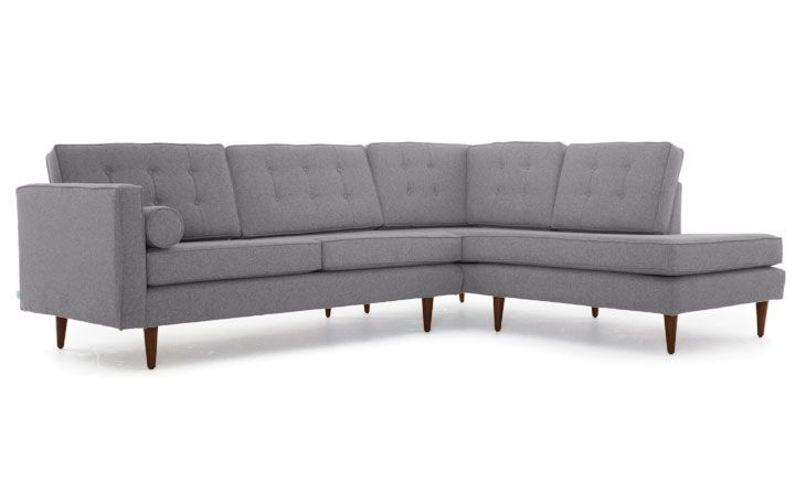 Braxton Sectional With Bumper Sectional Small Couch Sectional