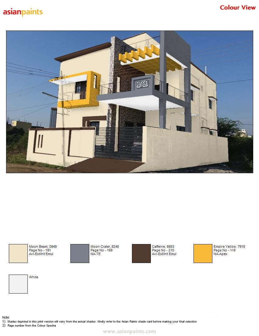 Asian Paints Exterior Colour Combinations Exterior Colour Combinations Pinterest