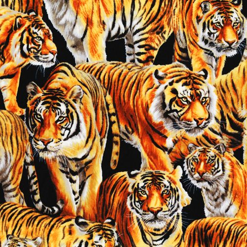 65eec49b48a Tigers packed on this african wildlife scrubs fabric | Christopher ...