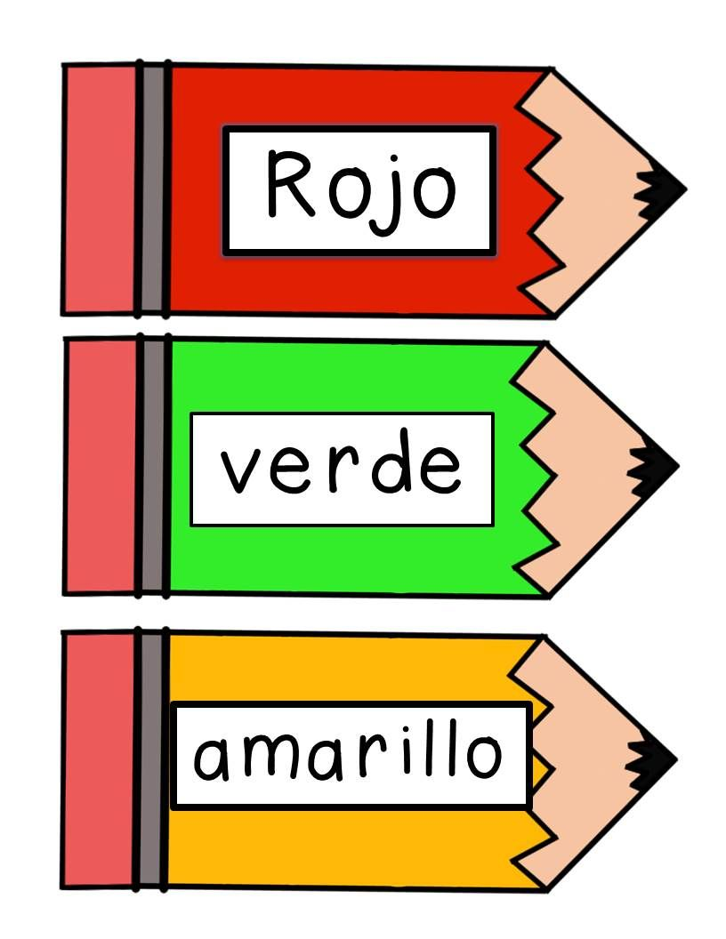 Spanish colors for preschool -  Free Spanish Colors Classroom Labels