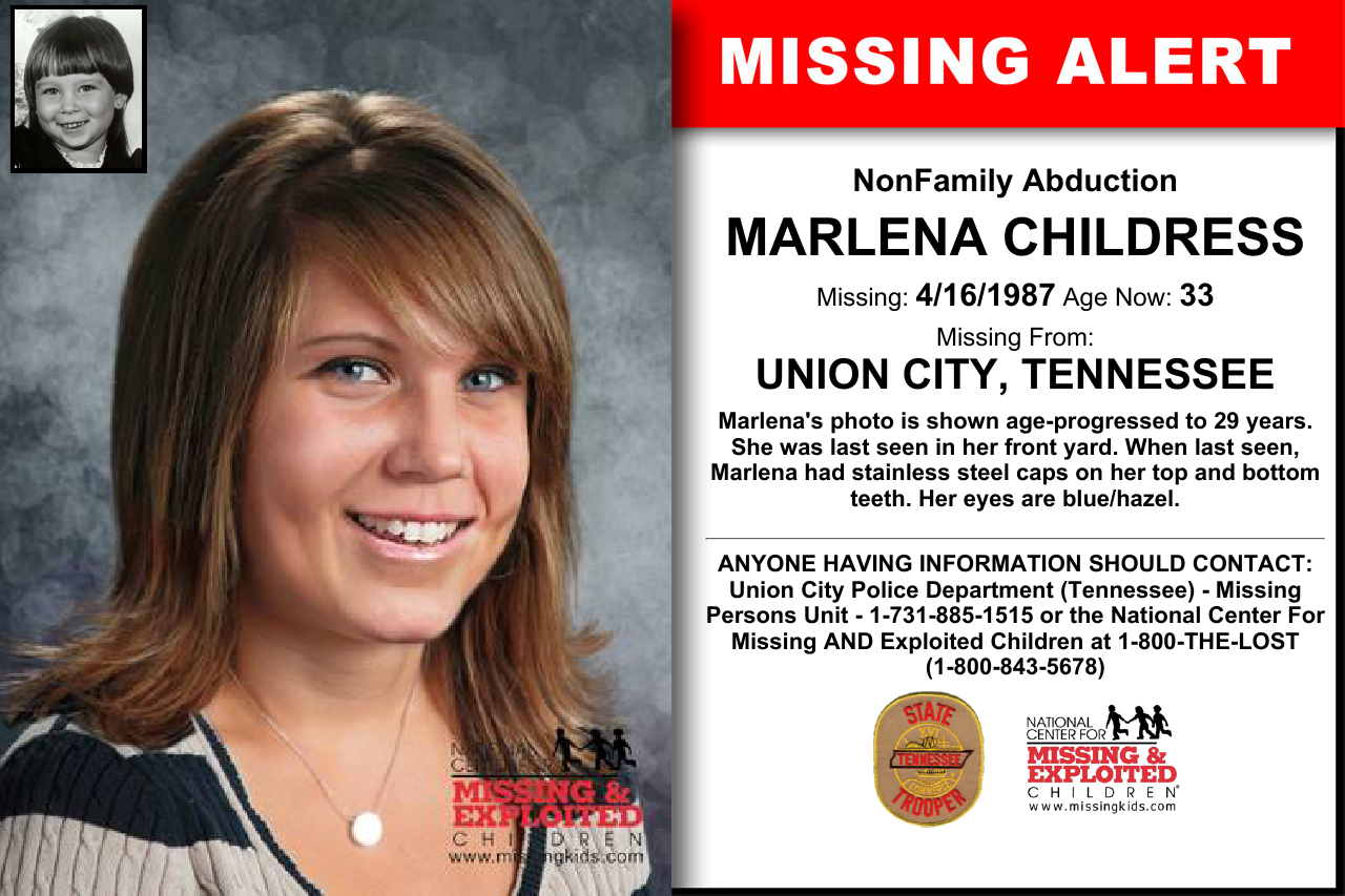 MARLENA CHILDRESS, Age Now: 33, Missing: 04/16/1987  Missing