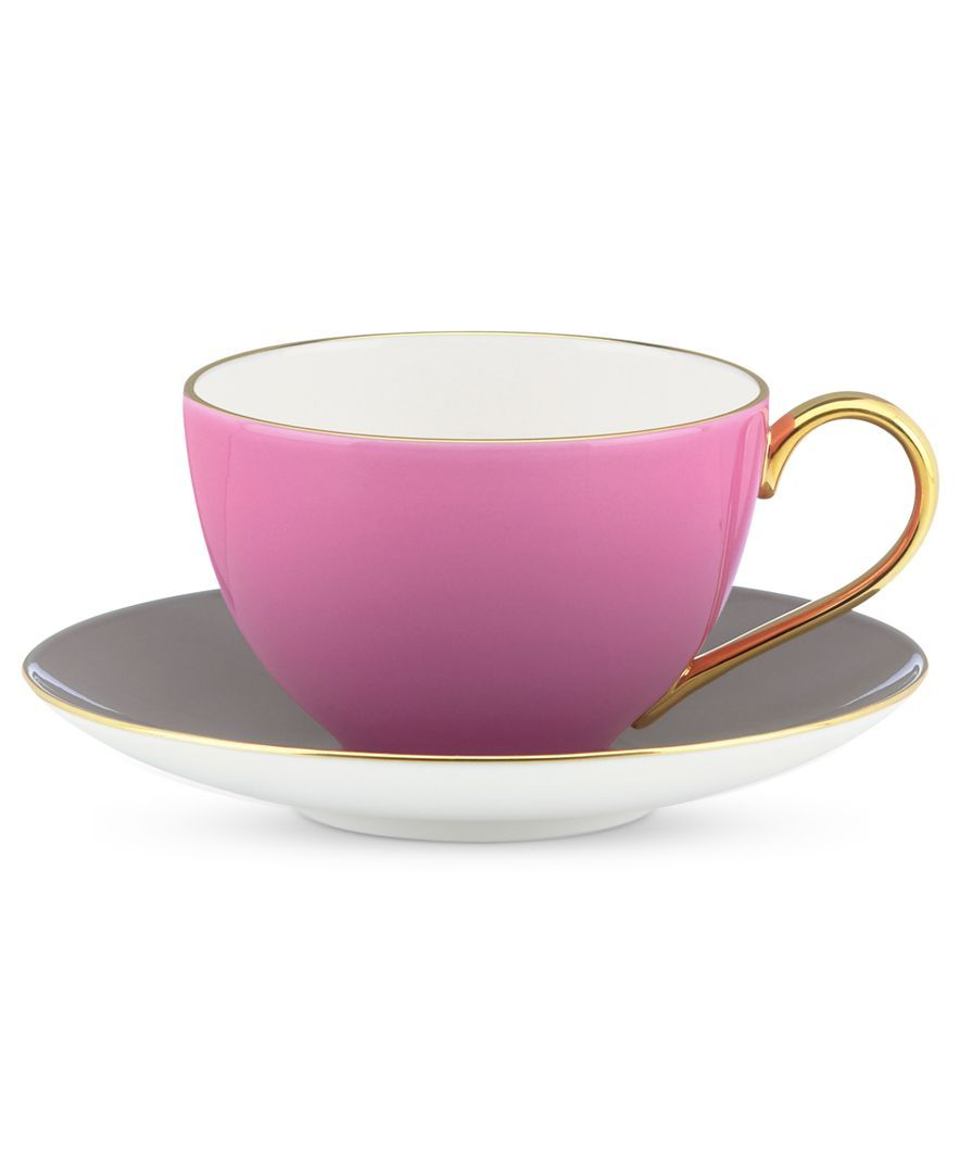 kate spade new york Dinnerware, Greenwich Grove Cup and Saucer Set - kate spade - Home Decor - Macys #macysdreamfund