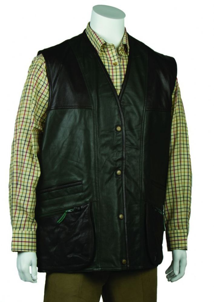Game Classic Wax Gilet Brown Waistcoat Country Hunting Shooting