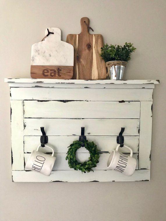 Floating Shelf Shelf With Hooks Farmhouse Style Shelf With Hooks Coat Rack Entryway Coat Rack M Decor Entryway Coat Rack Tuscan Decorating